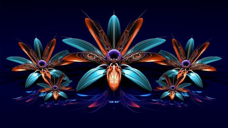flowers, fractal, bouquet