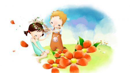 flowers, garland, romance