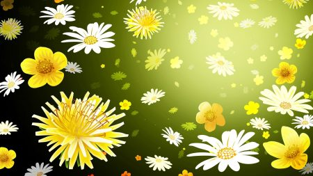 flowers, graphic, background