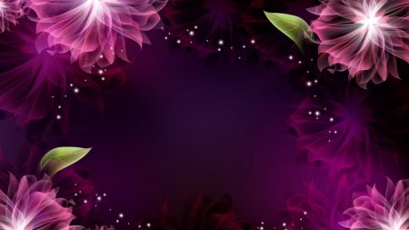 flowers, leaves patterns, background