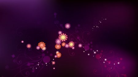 flowers, spots, white