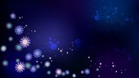flowers, stars, dots