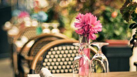 flowers, vase, coffee