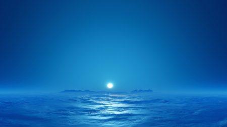 fog, sun, sea