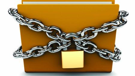 folder, lock, chain lock