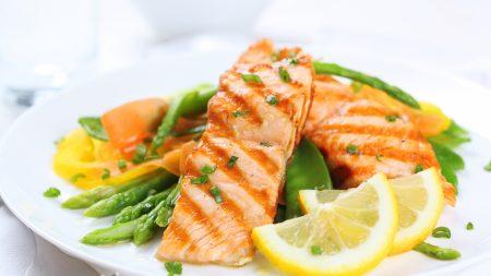food, fish, lemon