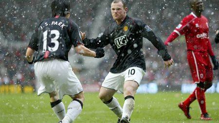 football, field, rain