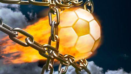football, fire, ball