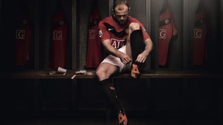 football player, boots, locker room