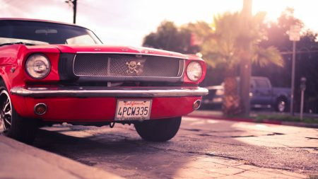 ford, mustang, red