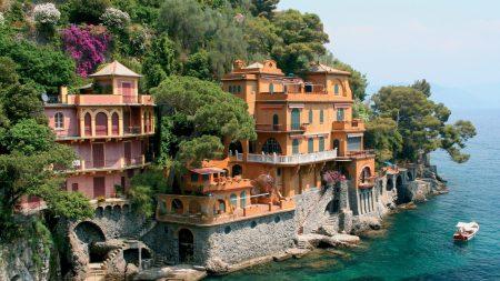 forest, boat, villa