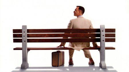 forrest gump, tom hanks, bench