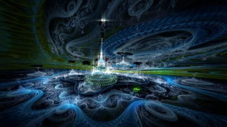 fractal, city, imagination