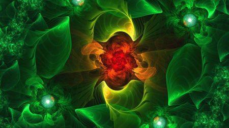 fractal, flower, background