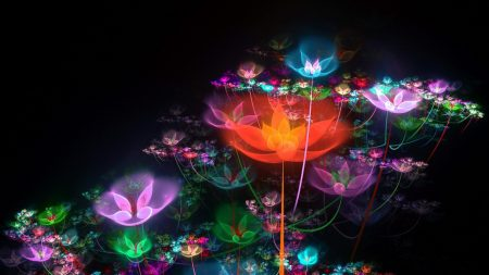 fractal, flowers, buds