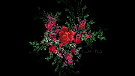 fractal, flowers, leaves