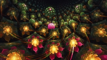 fractal, flowers, patterns