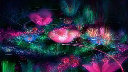fractal, flowers, space