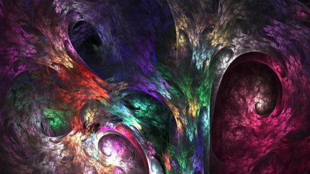 fractal, paint, colorful