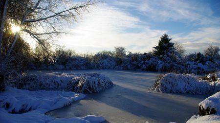 france, lake, ice