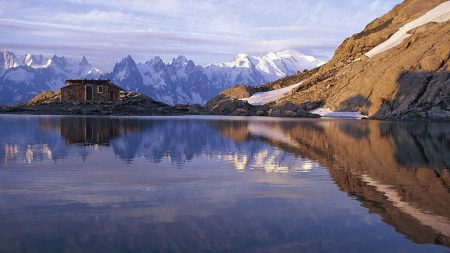 france, lake, mountains