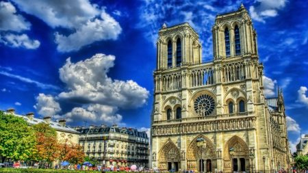 france, square, cathedral