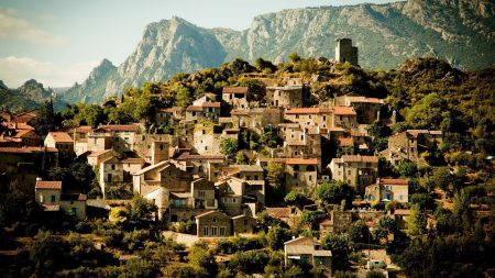 france, village houses, upland