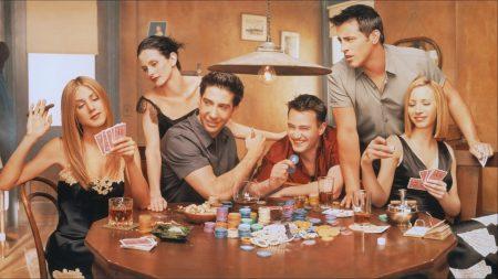 friends, serial, poker