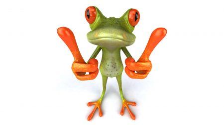frog, gesture, cool