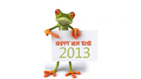 frog, new year, greetings