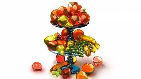 fruit, stand, vase