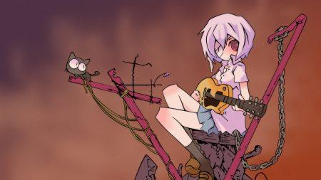 gainax, girl, guitar