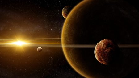 galaxy, planet, light
