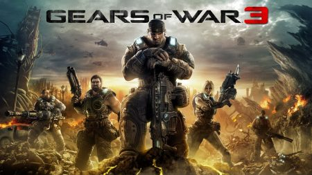 gears of war 3, characters, city