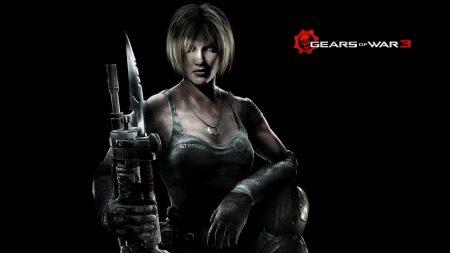 gears of war 3, girl, gun