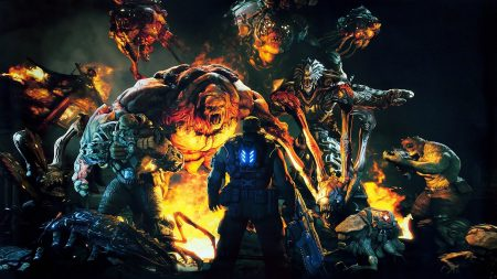 gears of war, character, monsters