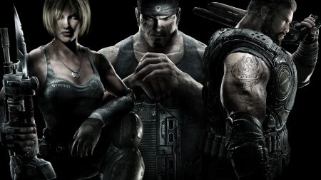 gears of war, characters, faces