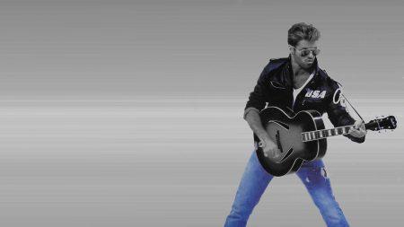 george michael, glasses, guitar