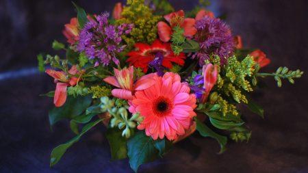 gerbera, alstroemeria, bouquet