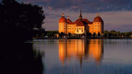 germany, beach, castle