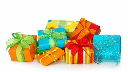 gift, box, bow