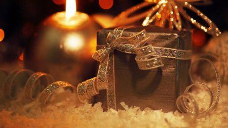 gift, candle, snowflake