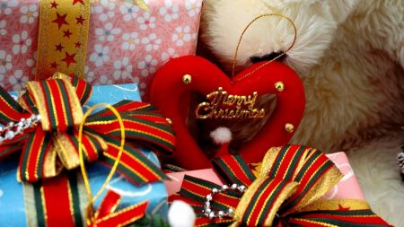 gifts, holiday, heart