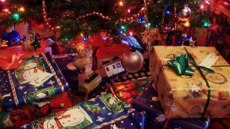 gifts, many, christmas tree