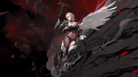 girl, angel, wing