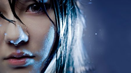 girl, asian, face