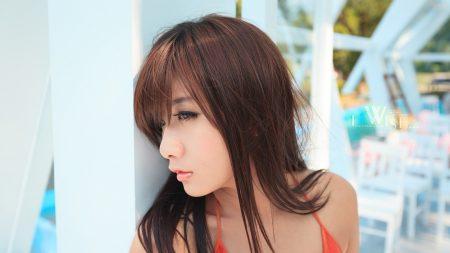 girl, asian, hair