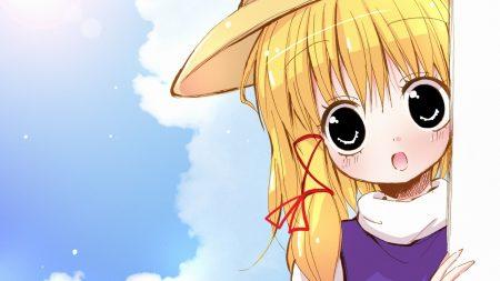 girl, blond, hat