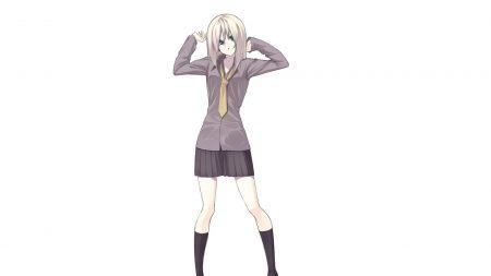 girl, blonde, shirt