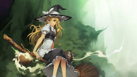 girl, broom, hat